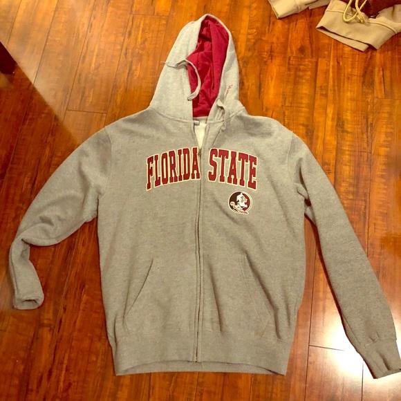 Champion FSU Florida State University Hoodie Full Zip Fleece Hoodie